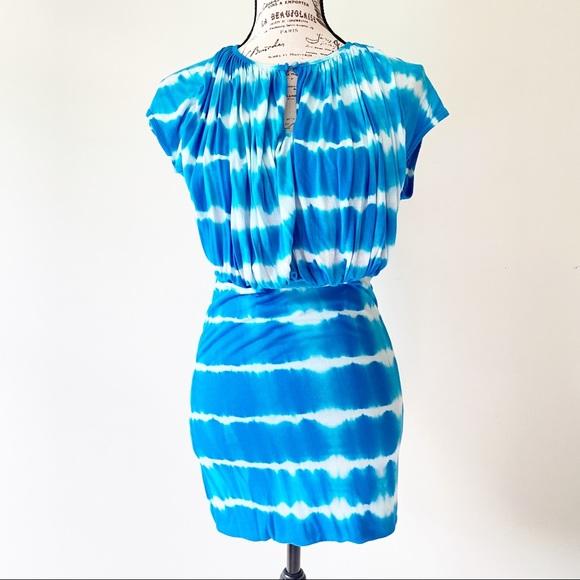Young Fabulous Broke blue tie dye dress